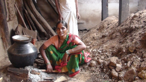 Cooking must go on even in this messed-up, roofless kitchen in Hiresindhogi of Koppal district.