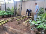 Step 1: You will need wooden poles—preferably sarve mara; if not available, go for bamboo or eucalyptus. They come in lengths of 12 ft and can be cut into 3ft-4 ft or 6 ft long. These poles have a long life, up to five years.