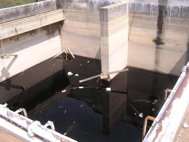 This extremely hazardous leachate has been lying in this tank for over two years at Mavallipura Ramky SWM landfill. 'Solar evaporation' is the process it has been subjected to.