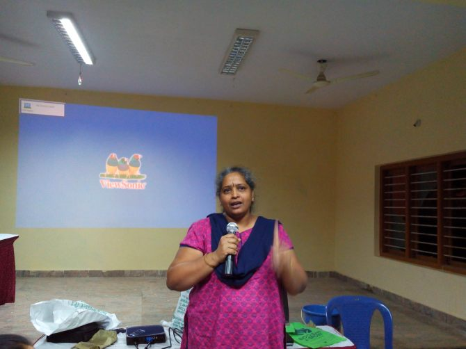 Nalini Shekar of Hasiru Dala makes an appeal to lead a life free from landfills.