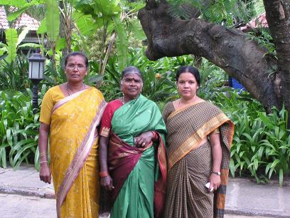 Papamma with her friends who are also organic farmers.