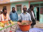 Pourakarmika Annappa with segregated kitchen waste.
