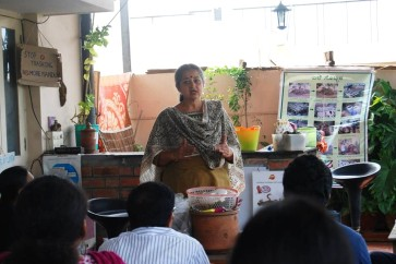 Compost expert and urban farmer Vani Murthy at one of her training sessions.