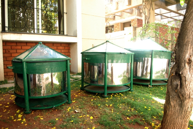 Marigol solar composter from Prudent Eco Systems, Bengaluru.