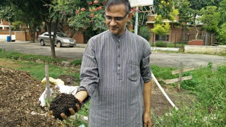 K P Singh of Rainbow Drive, Sarjapur Road. He believes that if the volunteers are involved fully, it takes little efforts to get the staff involved in green initiatives.