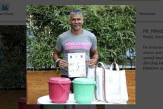 Actor, model and marathoner, Milind Soman is all for segregation at source. He offered support to spread awareness on the concept through SBI Pinkathon and social media.